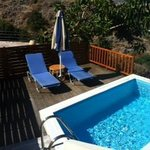 our private pool and decking area