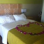 beautiful petals to greet us on our arrival - bedroom