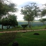 view from escarpment to Lake Manyara at Serena Lodge