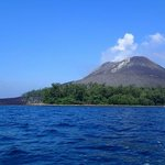 the beach of the Krakatoa