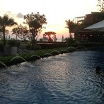 sunset from pool area