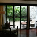 Dusit Thani Pool Villa: Patio area of second bedroom
