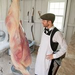 Butcher and meat market in Doon Heritage Village at the Waterloo Region Museum