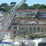 Hotel vu du bateau