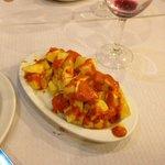 Delicious Patatas Bravas style cubes...