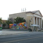 View from front door and outdoor seating.