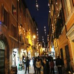 Rome Trastevere at night