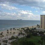 View From Room With Cruise Ship Leaving Port Everglades