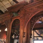 The bar at The Depot Grill, great woodwork!