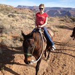 Riding horses to view Grand Canyon