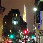 View of eiffel tower from rue saint charles
