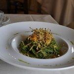 Spaghettoni con carbonara di gamberi e bottarga