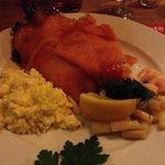 salmone su pane di segale