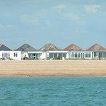 The beachfront bungalows