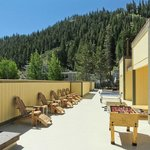 Sun Deck at the Red Wolf Lodge at Squaw Valley