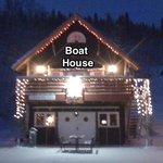 Boat House at Christmas