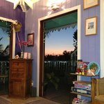 inside sitting room at sunset