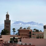High Atlas from roof terrace
