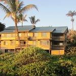 Hana Kai Maui viewed from beach at sunrise