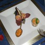 Serrano ham, red pepper ice cream (yes!) and Andalusian Gazpacho