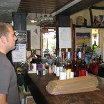 Inside at the tasting bar