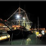 Golden Hind at night