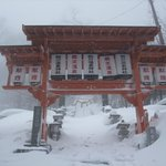 Zao Onsen village-temple entrance