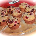 Wild Cranberry-Banana Nut muffins fresh from the oven!