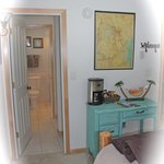 Attached private shower and shared bath to Africa Room; complimentary coffee /tea nook