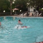 Grandkids at the pool