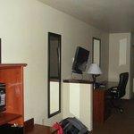 Desk, TV closet