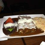burrito viande et sauce chocolate mmm