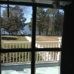 View from window of the Mary Suite looking out to the water