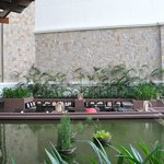 the sunken bar -  the cheerful bartenders will entertain you with a story or two