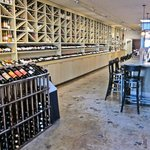 The wine room and bar.