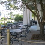 Chanticleer Patio is a great place to enjoy your food.