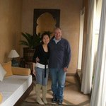 with hotel owner Jean Bernard