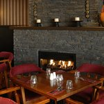 dine and wine in front of our fireplace