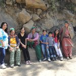 with local people in Sangla