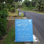In front Tauonos garden cafe