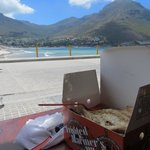 Snoek and chips at Hout Bay