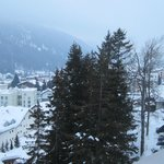 view over Davos from blacony