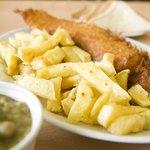 The Old Favourite, special, chips & mushy peas