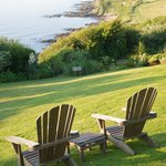 We have seven acres of private gardens, gradually layering down to the beach