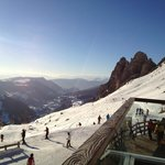 Skiing view