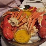 Seafood Feast for Two- lobster,shrimp,scallops,snow crab legs + broiled haddock