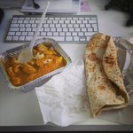 Medium Chicken Curry, rice & garlic naan takeout - wowzers