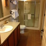 Bathroom - includes built in seats in shower