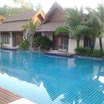 ocean room villa and pool