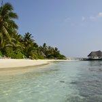 la plage pricipale et le sundowner bar au fond